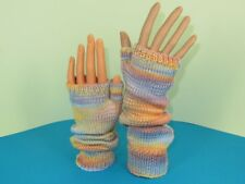 PRINTED INSTRUCTIONS-SELF STRIPING FINGERLESS SLOUCH GLOVES KNITTING PATTERN