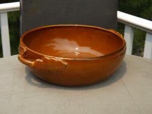 "Williams Sonoma Eigler Leaf Serving Bowl 12"" Wide 4"" Deep"