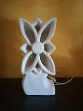 lampe en pierre d'Albert Tormos 1970 fleurs sculpture