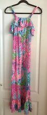 Lilly Pulitzer Girls LETS CHA CHA Bridgette Maxi Dress Size XL 12-14 HTF