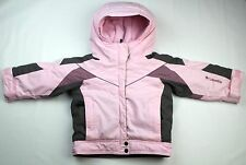 Columbia Baby Girl  Pink Gray Nylon Waterproof Winter Light Jacket Size 2T