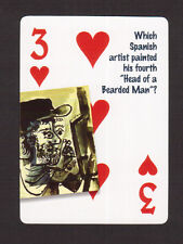 Pablo Picasso Artist Painter Head of a Bearded Man Neat Playing Card #4Y6