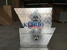 Pair of Aluminium Under Tray Underboay Ute/Truck Tool Box Storage 750x200x400mm
