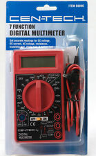 7 Function Digital Multimeter Dc Ac Voltage Battery Multi Tester Cen Tech 69096