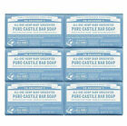 Dr Bronner's All-One Pure Castile Bar Soap Baby Unscented 5 Oz - 6 Pack