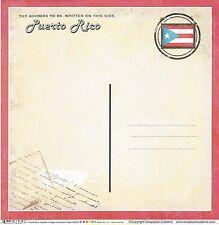 Sc - Puerto Rico Postcard Scrapbooking Paper - 1 sheet - Vintage 36435