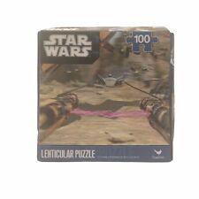 "Star Wars Lenticular 3D Puzzle 100 Piece 12"" x 9"" Anakin Skywalker Pod Racing"