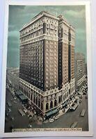 New York City NYC Hotel McAlpin Broadway At 34th Street Vintage Postcard Bus Car