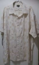 Rogue Classic Men's Cream Button short sleeVe shirt Size 5XL Excellent Condition