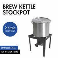 60/100 Qt Deluxe Deep Fryer Kit Steamer Stock Pot Propane Cooking Shrimp Pot New