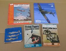 Lot of 5 Military Books WW II Fighters Desert Strike Flying Tigers Duxford Fort