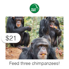 $21 Charitable Donation For:  Feed Three Former Research Chimpanzees