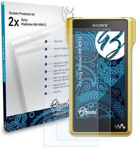 Bruni 2x Protective Film for Sony Walkman NW-WM1Z Screen Protector