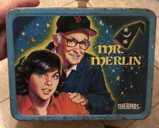 VINTAGE 1981 MR. MERLIN METAL LUNCHBOX