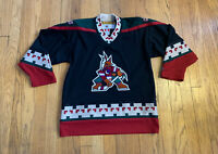 Phoenix Coyotes Vintage 90's Youth L/XL Stitched KOHO Hockey Jersey EUC Rare