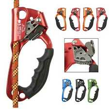Hand Ascender Outdoor Rock Climbing Rope Clamp Caving Rescue Gear Right Left