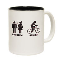 Problem Solved Bicycle Novelty Joke Humour Cyclist Cycling MUG birthday funny