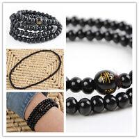 6mm*108 Sandalwood Buddhist Buddha Meditation Prayer Bead Mala Bracelet/Necklace