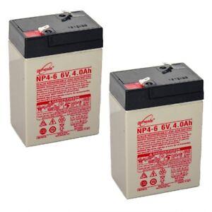EnerSys Genesis 6 Volt 6V 4.0AH Rechargeable Deer Game Feeder Battery - 2 Pack