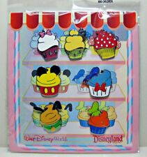 Disney Collectible Pin Booster Pack CUPCAKES BAKERY 7 Pins Sealed NEW