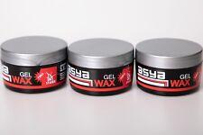 3x ASYA Haar Gel Wax Stark wet Look Hair wax 100ml Haarwachs Hair Styling