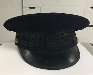 Vintage Round Top MeshBraid Police Uniform Hat Cap Size 7 1/4 Knoxville  Tn