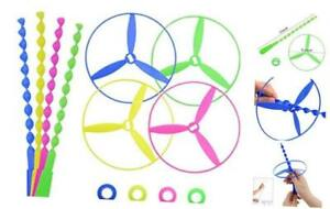 Twisty Pull String Flying Saucers/Helicopters, 40 PCS