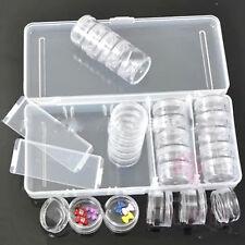 25 Space Empty Storage Clear Box Case for Nail Art Tips Gems Rhinestone Decor