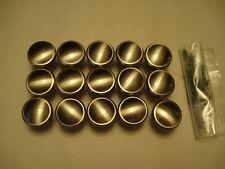 Brushed Nickel Cabinet Knobs, Set of 15