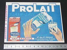 BUVARD 1960 PROLAIT FLASH-LAIT LAIT GRANULE NIORT 79 PRODUITS LAITIERS