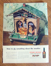 1944 Four Roses Whiskey Ad  How to do something about the Weather