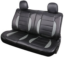 Car Protection Leather Rear Split Bench Seat Cover Cushion 40/60 50/50 Black