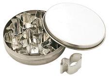 Piazza Effepi Ensemble coupeur moule mini animaux 10 pièces métal avec housse