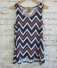 LEL Long Elegant Legs Women's Sz Small Sleeveless Tank Top Striped Multi-Colored
