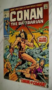 Conan the Barbarian #1 NM+ 9.6 White pages 1970 Marvel 1st appearance & Origin