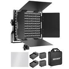 Neewer Bi-Color 660 LED Vídeo Luz Regulable con 6600mAh Batería y Cargador
