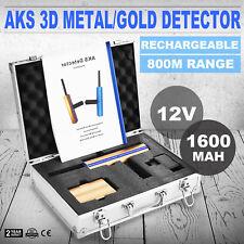 AKS 3D Metal Detector metallo/oro Rivelatore Hunter +Trasmettitore +Batteria
