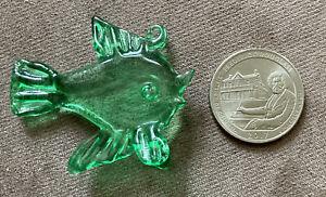 Clear Green Tropical Fish Glass Ornament Holiday /Beach Decor