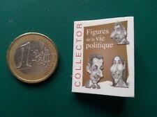 Figures de la vie politique française 2010 Mini livre 3,2 x 2,5 cm Caricature