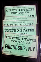 US Stamps Old-time Express Company Revenue Pieces