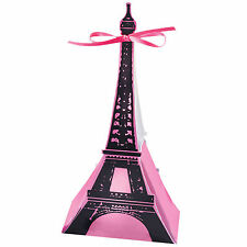 12 Day In Paris Pink Birthday Princess Party Eiffel Tower Loot Favour Boxes