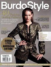 BurdaStyle US magazine 10/2014 20 full-size inserts 40 Sewing Patterns - NEW