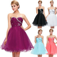 Short Mini Homecoming Dress Bridesmaid Ball Gown Party Cocktail Club Prom Dress*