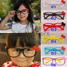 Kids Boys Girls Kawaii Hello Kitty Bow Bowtie Glasses Frame Costume NO LENS