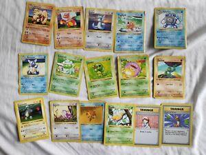 16 Shadowless Base Set Pokemon Joblot Bundle 1st Edition Charmeleon Bulbasaur