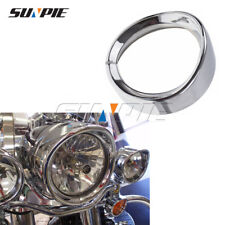 "1PC Harley Davidson 7"" Chrome Headlight Ring Motorcycle Headlight Trim Rings"