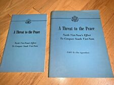 New listing 1961 State Dept 2 vol Threat To Peace N Vietnam'S Effort To Conquer S Vietnam