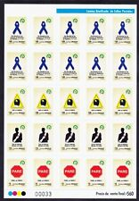 More details for uruguay 2012 sg3495/52 set of 3 sheets of self-adhesive stamps u/m. cat £600+