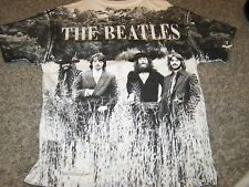 """THE BEATLES """"OUTSTANDING IN THEY'RE FIELD"""" ALL OVER PRINT HANES VINTAGE T-SHIRT"""