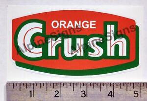 Vintage Orange Crush sticker decal